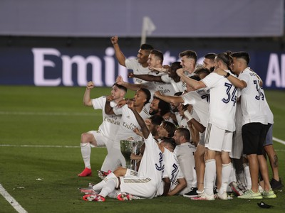 Oslavy titulu hráčov Realu Madrid