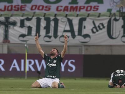 Radosť hráčov Palmeiras z