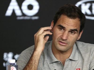 Roger Federer na tlačovej