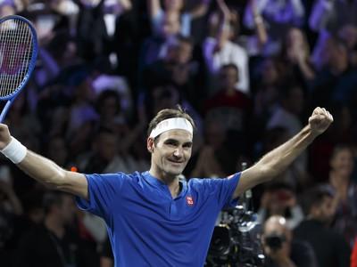 Roger Federer počas Laver