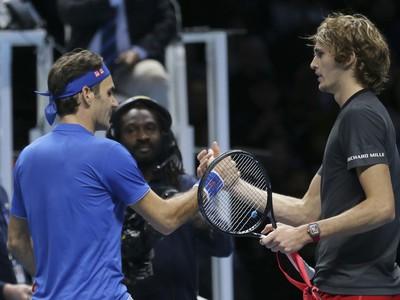 Roger Federer a Alexander Zverev