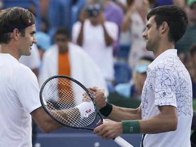 Roger Federer a Novak