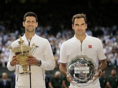 Novak Djokovič a Roger