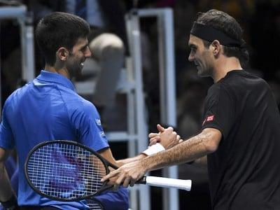 Novak Djokovič a Roger Federer