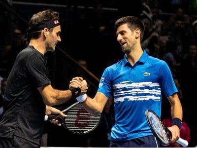 Roger Federer a Novak Djokovič