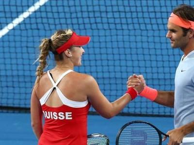 Belinda Bencicová a Roger