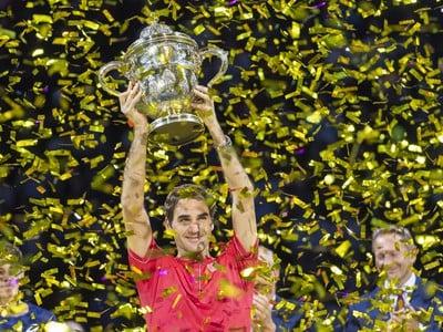 Federer získal v Bazileji rekordný 10. titul