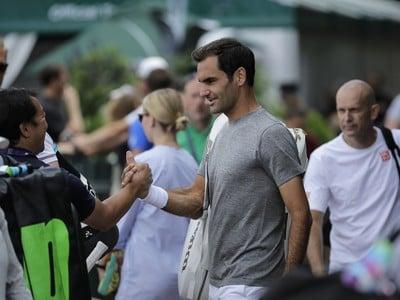 Roger Federer v areáli
