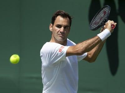 Roger Federer v príprave