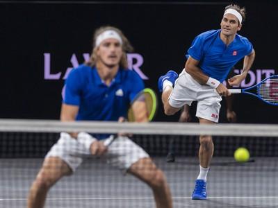 Roger Federer a Stefanos Tsitsipas
