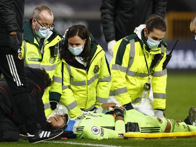 Zranený brankár Wolves Rui