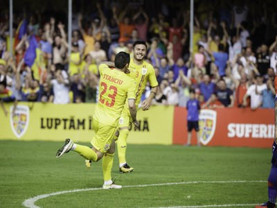 Nicolae Stanciu oslavuje gól