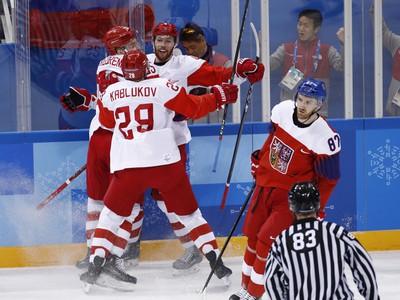 Ruskí hokejisti sa radujú
