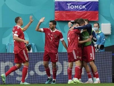 Radosť ruských futbalistov po