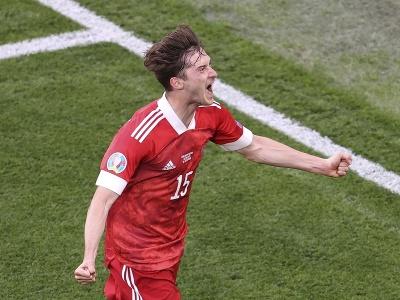 Alexej Mirančuk sa raduje z gólu