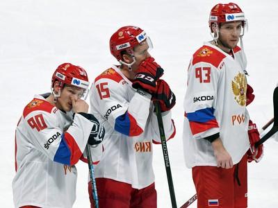 Na snímke hráči Ruska