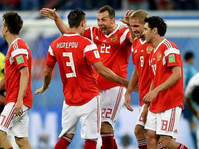 Radosť hráčov Ruska