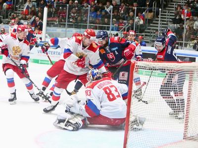 Momentka zo zápasu Slovensko
