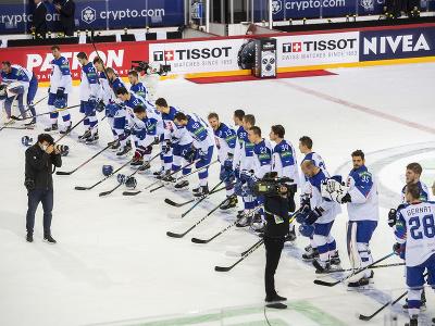 Slovenskí hokejisti po výhre