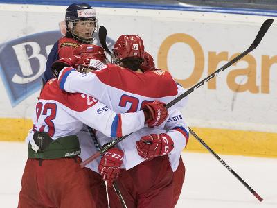 Na snímke radosť Rusov