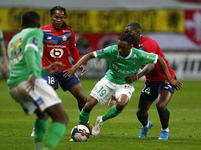 Momentka zo zápasu Lille OSC - Saint-Etienne