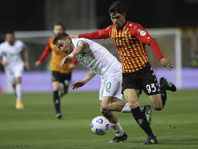 Momentka zo zápasu Benevento