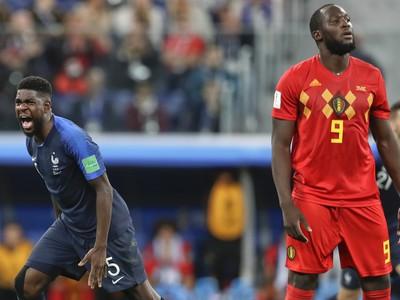 Samuel Umtiti oslavuje gól