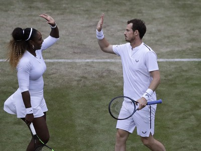 Andy Murray a Serena