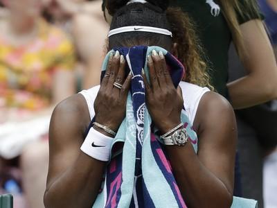 Frustrovaná Serena Williamsová