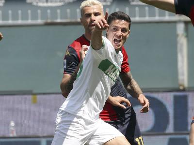 Giacomo Raspadori oslavuje gól