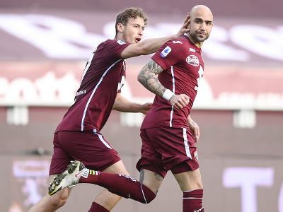 Simone Zaza oslavuje gól v sieti Sassuola