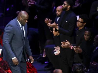 Shaquille O'Neal na rozlúčke s legendárnym Kobem Bryantom