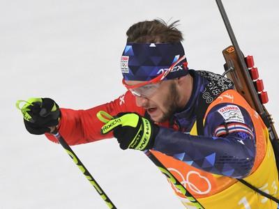 Na snímke slovenský biatlonista Šimon Bartko
