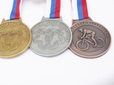 Medaile k spoločným majstrovstvám Slovenska a Českej republiky v cestnej cyklistike v Bratislave