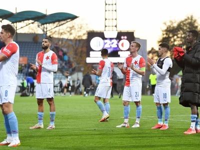 Futbalisti Slavie Praha po