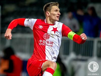 Milan Škoda oslavuje gól