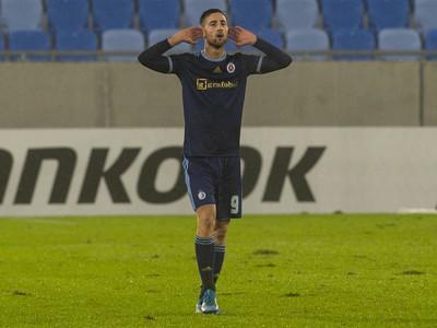 Na snímke hráč Slovana