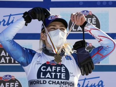 Mikaela Shiffrinová s bronzom