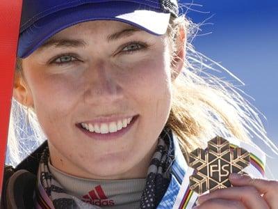 Mikaela Shiffrinová s bronzovou medailou