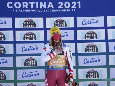 Katharina Liensbergerová so zlatou medailou