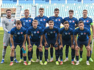 Na snímke reprezentácia Slovenska v zápase kvalifikácie C-skupiny na ME 21 mužov vo futbale Slovensko - Malta
