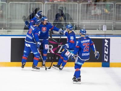 Gólové oslavy slovenských hokejistov