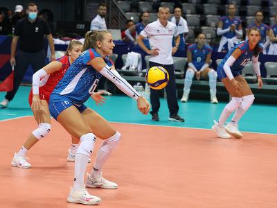 Na snímke slovenské hráčky