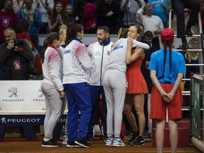 Radosť slovenského tímu po