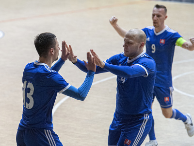 Gólové oslavy futsalistov Slovenska