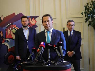 Martin Kohút na tlačovej konferencii v Bratislave