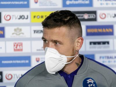 Na snímke slovenský futbalový