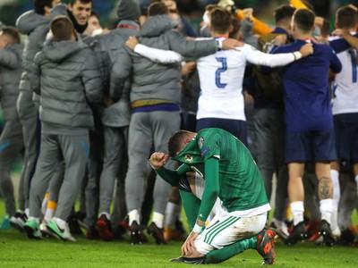 Futbalisti Slovenska sa tešia po výhre 2:1 v zápase finále play off o EURO 2020