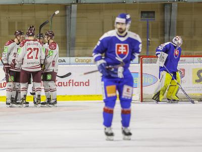 Gólová radosť hráčov Lotyšska
