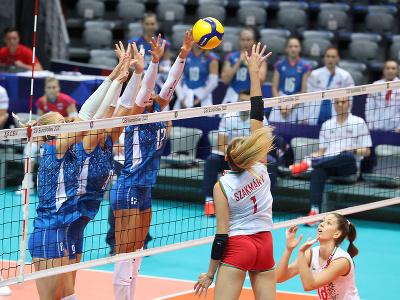 Slovenské volejbalistky v zápase